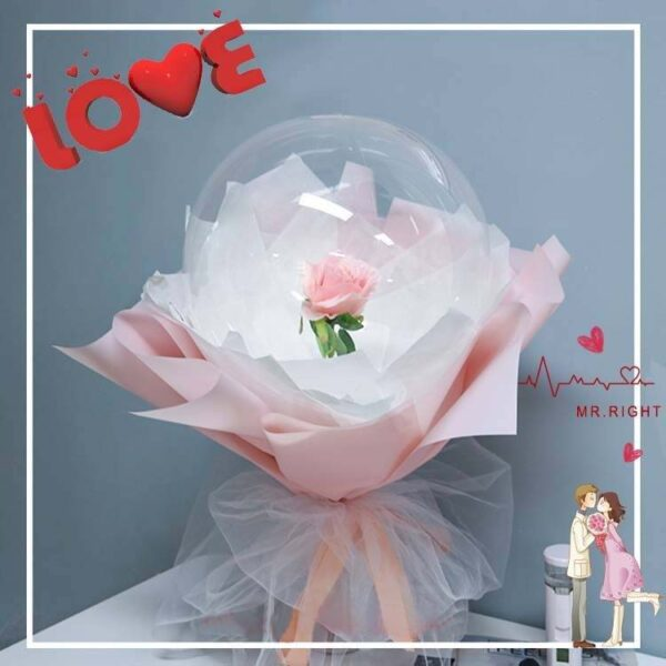 Rose Bouqute Ballons Pink Pink