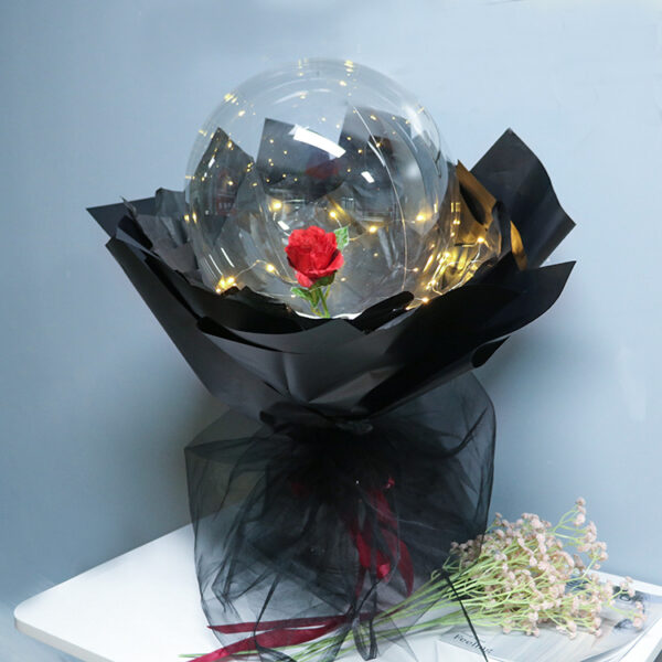 Rose Bouqute Ballons Red black